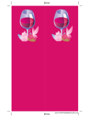 Wine Pink Bookmark