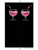 Pink Cocktail Black Bookmark