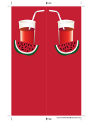 Watermelon Drink Bookmark