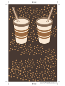 Brown Paper Cup Bookmark