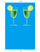 Cocktail Blue Bookmark