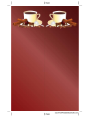 Cinnamon Coffee Red Bookmark