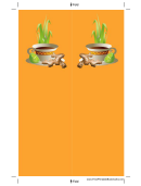 Tea Ginger Orange Bookmark