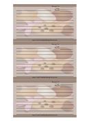 Brown Cookies Recipe Card Template