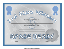 Space Derby 3rd Place Certificate Template