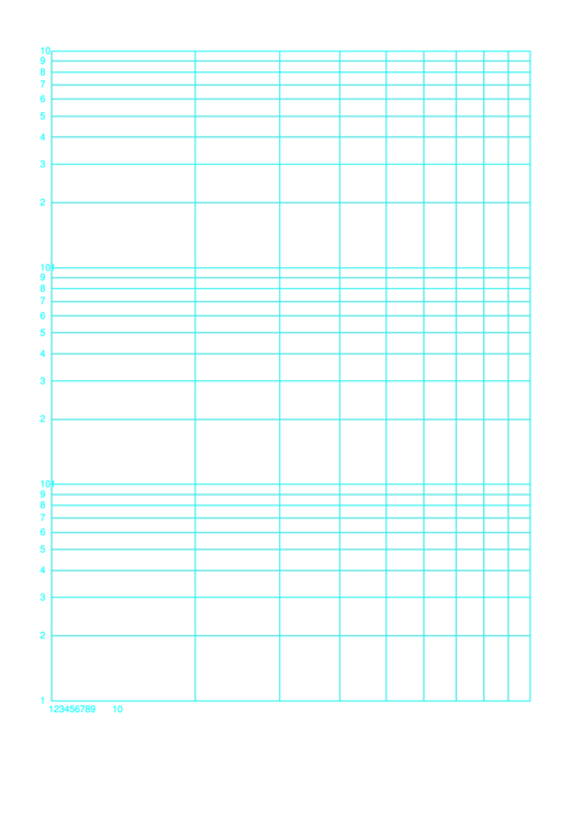 Log-log Paper With Template Logarithmic Horizontal Axis (one Decade) And Logarithmic Vertical Axis (three Decades)