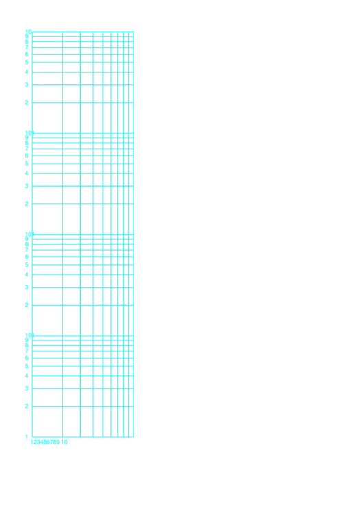 Log-log Paper Template With Logarithmic Horizontal Axis (one Decade) And Logarithmic Vertical Axis (four Decades)