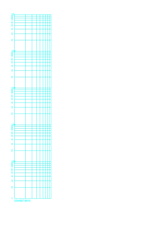 Log-log Paper With Logarithmic Horizontal Axis (one Decade) And Logarithmic Vertical Axis (five Decades) With Equal Scales On Letter-sized Paper