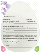 Letter To The Easter Bunny Template