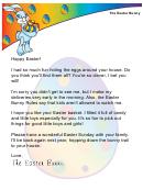 Easter Bunny Letter Template - Easter Morning