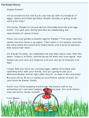 Easter Bunny Letter Template - Religious