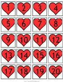 Hearts Calendar Date Tag Templates