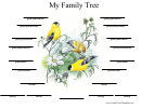 My Family Tree Template - Birds