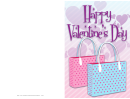 Two Bags Valentine Card Template
