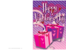 Two Gift Boxes Valentine Card Template
