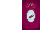 Hearts And Arrow Valentine Card Template