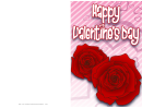 Two Roses Valentine Card Template