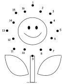 Smiling Flower Dot-to-dot Sheet