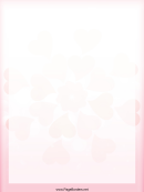 Valentine Hearts Writing Paper Template
