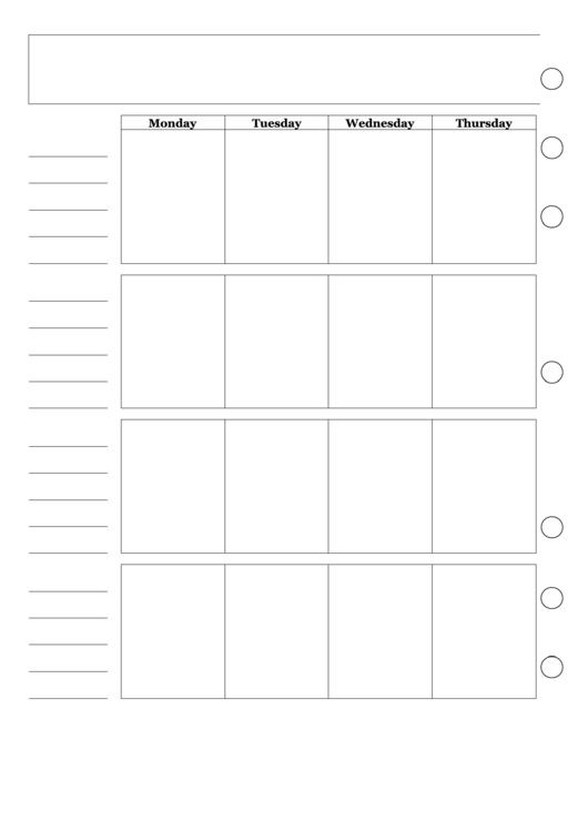 Blank Two Page Monthly Planner Printable pdf