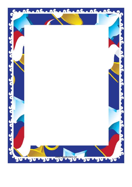 Horns And Stars Border Printable pdf
