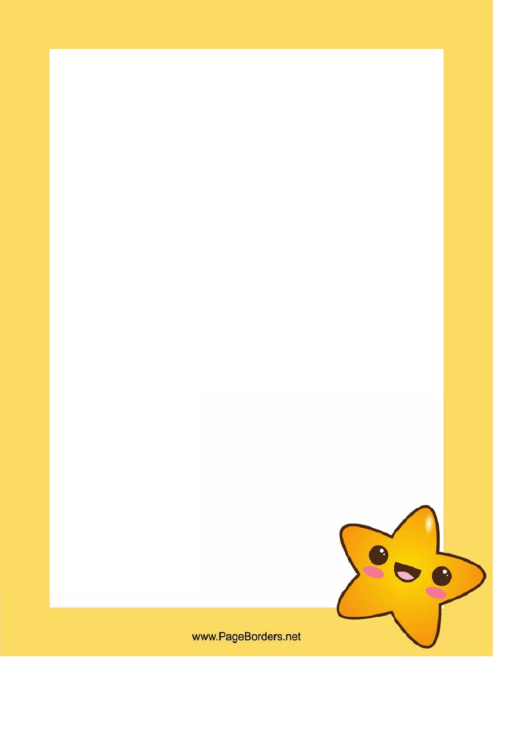 Happy Star Border Printable pdf