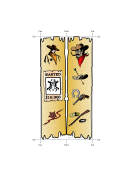 Western Bookmark - Sheriff