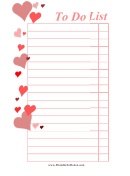 Valentine's Day To Do List Template