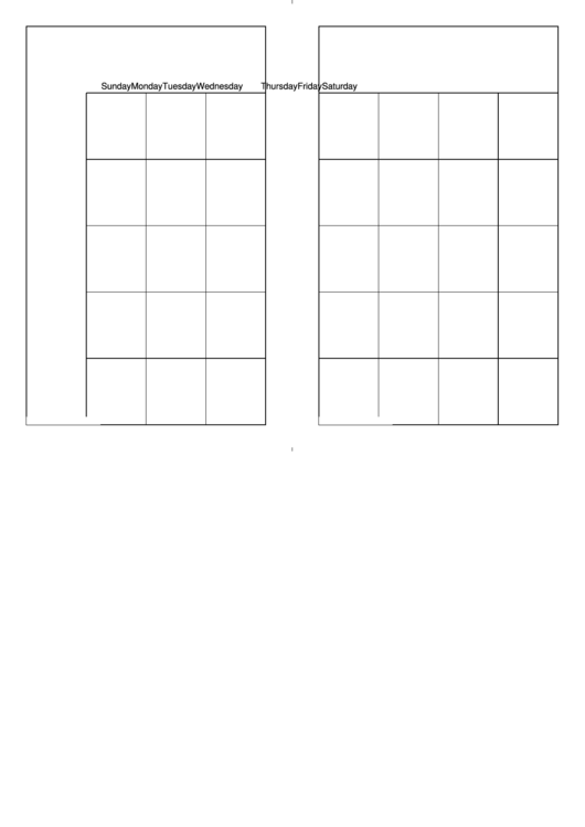 Two Page Calendar Template