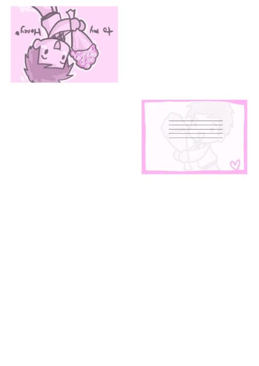 Pink Bouquet Valentine Card Template