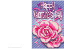 Two Flowers Valentine Card Template