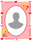 Cupid Valentines Photo Frame Template