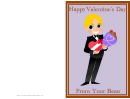 Valentine's Bouquet Card Template