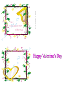Happy Valentine's Day Card Template