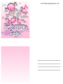 Candy Small Valentine Card Template