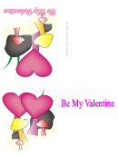 Mushrooms And Hearts Valentine Card Template