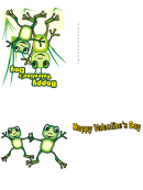 Two Frogs Valentine Card Template