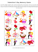 Valentine's Day Memory Game Template