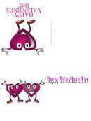 Happy Purple Heart Valentine Card Template