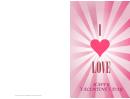 Big Heart Valentine Card Template