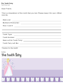 Tooth Fairy Letter Tooth Record