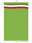 Green Bookmark Template