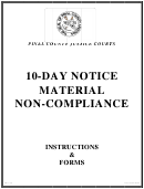 Form Fd11-107 - Notice Of Intention To Terminate For Breach Of Rental Agreement