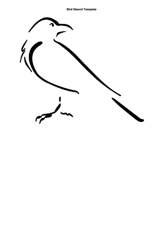 image about Bird Stencil Printable named Chook Stencil Template printable pdf down load