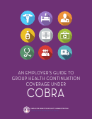 An Employer's Guide To Group Health Continuation Coverage Under Cobra - Employee Benefits Security Administration - U.s. Department Of Labor
