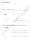 Form Artinc_pc - Articles Of Incorporation For A Profit Corporation