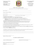 Application For Seasonal Retail Fireworks Sales Permit - City Of Saraland