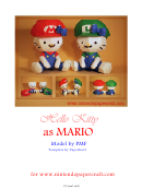 Hello Kitty As Mario Template