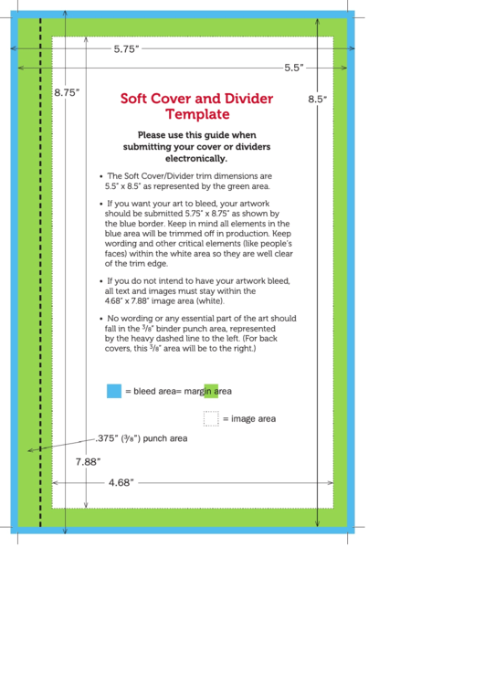 Soft Cover And Divider Template Printable pdf