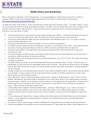 Form Ksu 8-45a - Raffle Policy And Guidelines - Kansas Dept.of Revenue